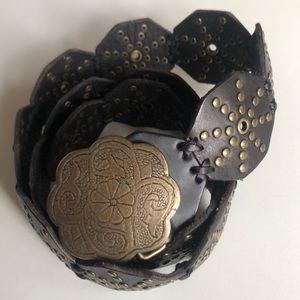 Lucky Brand belt dark brown, Large